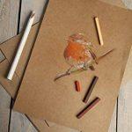 Clairefontaine 375001C - Une Rame de papier KRAFT BRUN VERGE 21X29,7 cm 25 Feuilles 120 g de la marque Clairefontaine image 2 produit