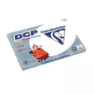 CLAIREFONTAINE 38750 Papier Dcp Multi fonctions A3 120g/m2 Satiné Parfaite Opacité Lot de 250 Blanc de la marque Clairefontaine image 0 produit