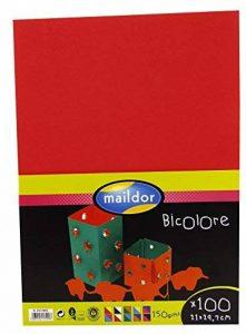 Clairefontaine 457299C Paquet 100 feuilles Cartoline bicolore 21x29,7cm sous/film Couleurs assorties de la marque Clairefontaine image 0 produit