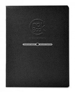Clairefontaine 60315C CroK'BooK carnet piqué 20F 17x22cm 120g papier noir Noir - portrait de la marque Clairefontaine image 0 produit