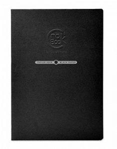 Clairefontaine 60316C CroK'BooK carnet piqué 20F 21x29,7cm 120g papier noir Noir - portrait de la marque Clairefontaine image 0 produit