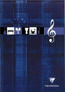 Clairefontaine 6157C Bloc musique encollé 12 portées 100 pages 90 g A4 Couleur Aléatoire de la marque Clairefontaine image 0 produit