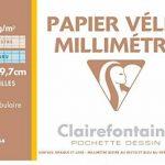 Clairefontaine - 742679 - Pochette de 12 feuilles papier millimétré - 90g - A4 de la marque Clairefontaine image 1 produit