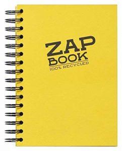 Clairefontaine 8355C Zap Book carnet spiralé 160F 14,8x21cm 80g Couleur Aléatoire de la marque Clairefontaine image 0 produit
