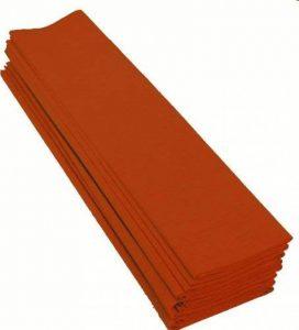 Clairefontaine 901058C Paquet 10 feuilles Crépon M40 2x0.50m Orange de la marque Clairefontaine image 0 produit