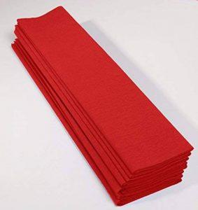 Clairefontaine 903006C Paquet 10 feuilles Crépon M60 2.5x0.5m Rouge de la marque Clairefontaine image 0 produit