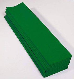 Clairefontaine 903050C Paquet 10 feuilles Crépon M60 2.5x0.5m Vert empire de la marque Clairefontaine image 0 produit