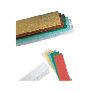 Clairefontaine 911199C Paquet 6 feuilles crépon métallisé 2,50x0,50m Couleurs assorties de la marque Clairefontaine image 0 produit