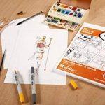 Clairefontaine 94044C Manga Multi-technique étui 40F 21x29,7cm 200g papier lisse Blanc de la marque Clairefontaine image 1 produit