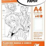 Clairefontaine 94045C Manga Multi-technique étui 40F 21x29,7cm 200g papier lisse Blanc - grille simple de la marque Clairefontaine image 1 produit