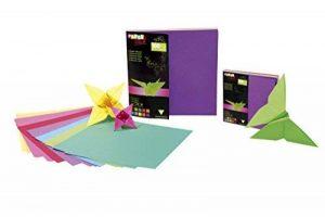 Clairefontaine 95007C Papier origami 20x20cm 100 feuilles 10 teintes de la marque Clairefontaine image 0 produit