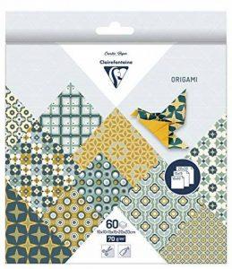 Clairefontaine 95345C Pochette 60 Feuilles Origami comprenant 3 format 10 x 10/15 x 15/20 x 20 cm motif Pop'n'ties de la marque Clairefontaine image 0 produit