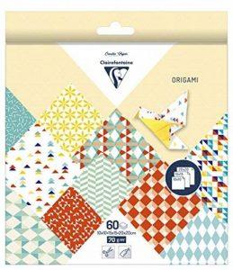 Clairefontaine 95346C Pochette 60 Feuilles Origami comprenant 3 format 10 x 10/15 x 15/20 x 20 cm motif Kaleido de la marque Clairefontaine image 0 produit