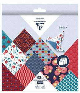 Clairefontaine 95347C Pochette 60 Feuilles Origami comprenant 3 format 10 x 10/15 x 15/20 x 20 cm motif Hanayo de la marque Clairefontaine image 0 produit
