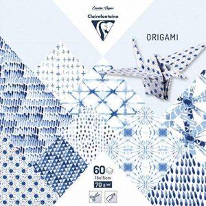 Clairefontaine 95349C Pochette de 60 Feuilles Origami format 15 x 15 cm Shibori de la marque Clairefontaine image 0 produit