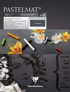 Clairefontaine 96003C Pastelmat bloc collé 12F 18x24cm 360g carte pour pastel Anthracite de la marque Clairefontaine image 0 produit