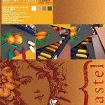 Clairefontaine 96007C Pastelmat bloc collé 12F 24x30cm 360g carte pour pastel Blanc, Sienne, Brun, Anthracite de la marque Clairefontaine image 2 produit