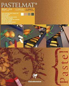 Clairefontaine 96007C Pastelmat bloc collé 12F 24x30cm 360g carte pour pastel Blanc, Sienne, Brun, Anthracite de la marque Clairefontaine image 0 produit