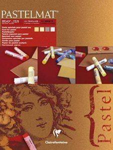 Clairefontaine 96018C Pastelmat bloc collé 12F 30x40cm 360g carte pour pastel Maïs, Bouton d'Or, Gris Foncé, Gris Clair de la marque Clairefontaine image 0 produit