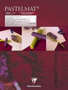 Clairefontaine 96029C Pastelmat bloc collé 12F 30x40cm 360g carte pour pastel Blanc de la marque Pastelmat image 0 produit