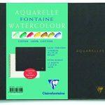 Clairefontaine 96320C Fontaine Aquarelle bloc spiralé 12F 18x24cm 300g grain torchon Blanc de la marque Clairefontaine image 1 produit