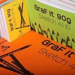 Clairefontaine 96681C Bloc GraFiT A4 80 feuilles 90 g papier uni avec couverture Bleu ciel de la marque Clairefontaine image 3 produit
