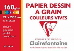Clairefontaine 96779C Etival Color pochette 12F 21x29,7cm 160g à grain Assortiment Vif de la marque Clairefontaine image 0 produit