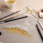 CLAIREFONTAINE 975809C - Un Bloc encollé de papier dessin Paint'On 30 feuilles de papier GRIS 21x29,7 cm 250g de la marque Clairefontaine image 1 produit