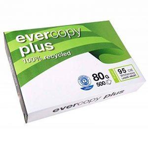 Clairefontaine Evercopy+ CIE95 Ramette de 500 feuilles A4 80g papier recyclé blanc Lot de 5 de la marque Clairefontaine image 0 produit