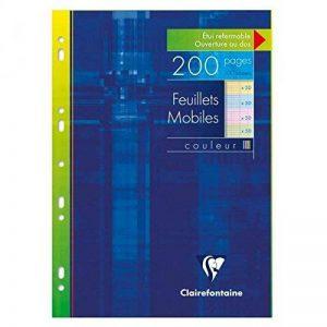 CLAIREFONTAINE Feuillets mobiles couleur s/étui 21x29,7 200p (50x4 coul.assorties) séyès de la marque Clairefontaine image 0 produit