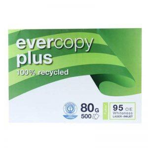 CLAIREFONTAINE Ramette de 500 feuilles A3 80g, papier 100% recyclé blanc Evercopy+ CIE95 de la marque Clairefontaine image 0 produit