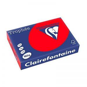 Clairefontaine Trophée 1004 Ramette de 250 feuilles papier 160 g Format A4 Rouge de la marque Clairefontaine image 0 produit