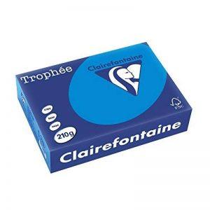 Clairefontaine Trophée–Ramette de papier/cartonné, 250feuilles, A421x 29.7cm, turquoise de la marque Clairefontaine image 0 produit