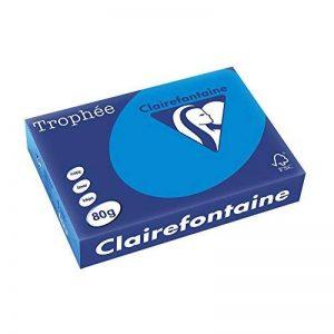 Clairefontaine Trophee Ramette de 500 feuilles papier couleur 80 g A4 Bleu turquoise de la marque Clairefontaine image 0 produit