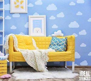 Cloud Nurserie Pochoir Mural De Maison Décoration & Artisanat Pochoir Cloud Ciel Thème Décoration Murale Peinture Murs Fabrics & Meuble 190 Mylar Pochoirs Réutilisables de la marque Ideal Stencils image 0 produit