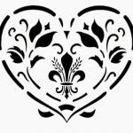 Cœurs style shabby chic Pochoir Fleur rustique. Vintage en Mylar A4297x 210mm Art Tissu mural de la marque Solitarydesign image 1 produit