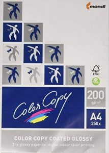 Color Copy 19847 Color gloss copy Papier brillant A4 pour laser couleur 200 g Ramette 250 feuilles Blanc de la marque Color Copy image 0 produit