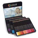Colore Crayons de couleur - Ensemble de 72 crayons de couleur prime Pré-taillés pour dessiner des pages à colorier - Un super équipement d'art scolaire pour enfants et adultes - Livres à colorier- 72 couleurs de la marque Colore image 1 produit