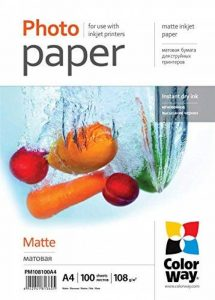 Colorway papier photo Mat : 135 g/m ? – A4–50 BL. de la marque Colorway image 0 produit
