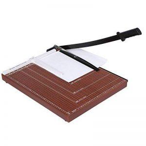 Coocheer Massicot A3 12 Feuilles Base Taille Régularisable 460 x 380 CM Cisaille Personnelle Papier (A2, A3, B4, A4, B5, A5, B6, B7) Machine de Coupe-papier Cutter Brune de la marque COOCHEER image 0 produit