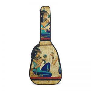 Coosun Parchemin de l'Égypte antique d'impression Housse pour guitare acoustique double Bandoulière réglable étanche Tissu Oxford étui de guitare Sac à dos pour 40104,1cm de la marque COOSUN image 0 produit