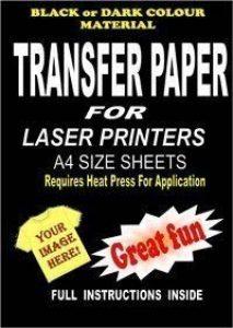 Copieur laser imprimable & T & Plastique T-shirt Papier transfert pour textiles sombres... de la marque Madaboutink image 0 produit