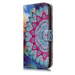 Coque iPhone X, E-Mandala Housse en Cuir avec TPU Silicone bumper 3D Motif Dessin Flip Case Portefeuille Etui pour Apple iPhone X Wallet Leather Cover à Rabat Bookstyle avec Stand Support et Carte de Crédit Slot Antichoc Ultra Resistante 360 Degres Protec image 2 produit
