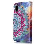 Coque iPhone X, E-Mandala Housse en Cuir avec TPU Silicone bumper 3D Motif Dessin Flip Case Portefeuille Etui pour Apple iPhone X Wallet Leather Cover à Rabat Bookstyle avec Stand Support et Carte de Crédit Slot Antichoc Ultra Resistante 360 Degres Protec image 3 produit