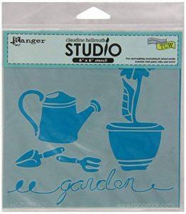 """Core-dinations Cardstock Collection pochoir Claudine Hellmuth Studio 6""""X 6"""" - dans le jardin de la marque Core-dinations Cardstock image 0 produit"""