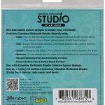"""Core-dinations Cardstock Collection pochoir Claudine Hellmuth Studio 6""""X 6"""" - dans le jardin de la marque Core-dinations Cardstock image 1 produit"""