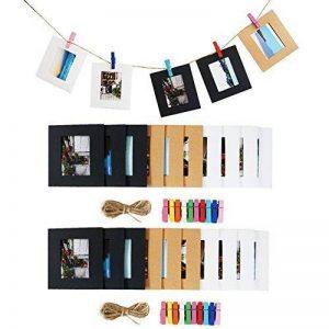 Cpano 20 pcs Décoration murale papier photo à suspendre film Cadre pour Fujifilm Instax Mini 8 7S 8 + 9 25 26 50S 90 Films de Polaroid et nom carte (noir / blanc / marron) de la marque Cpano image 0 produit