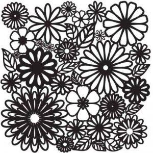 Crafters Workshop Flower Frenzy Pochoir Motif floral 12x 30,5cm de la marque The Crafter's Workshop image 0 produit