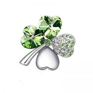 Cristal Swarovski Elements Broche Doux Bijoux Féminins à Quatre Feuilles de la marque QI image 0 produit