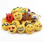 Cusfull Lot de 20-32 pcs Mini Emoji Porte-clés en Peluche Mignon Émoticône Emoji pour Décorations Enfants Cadeau de Fête Noël de la marque Cusfull image 3 produit